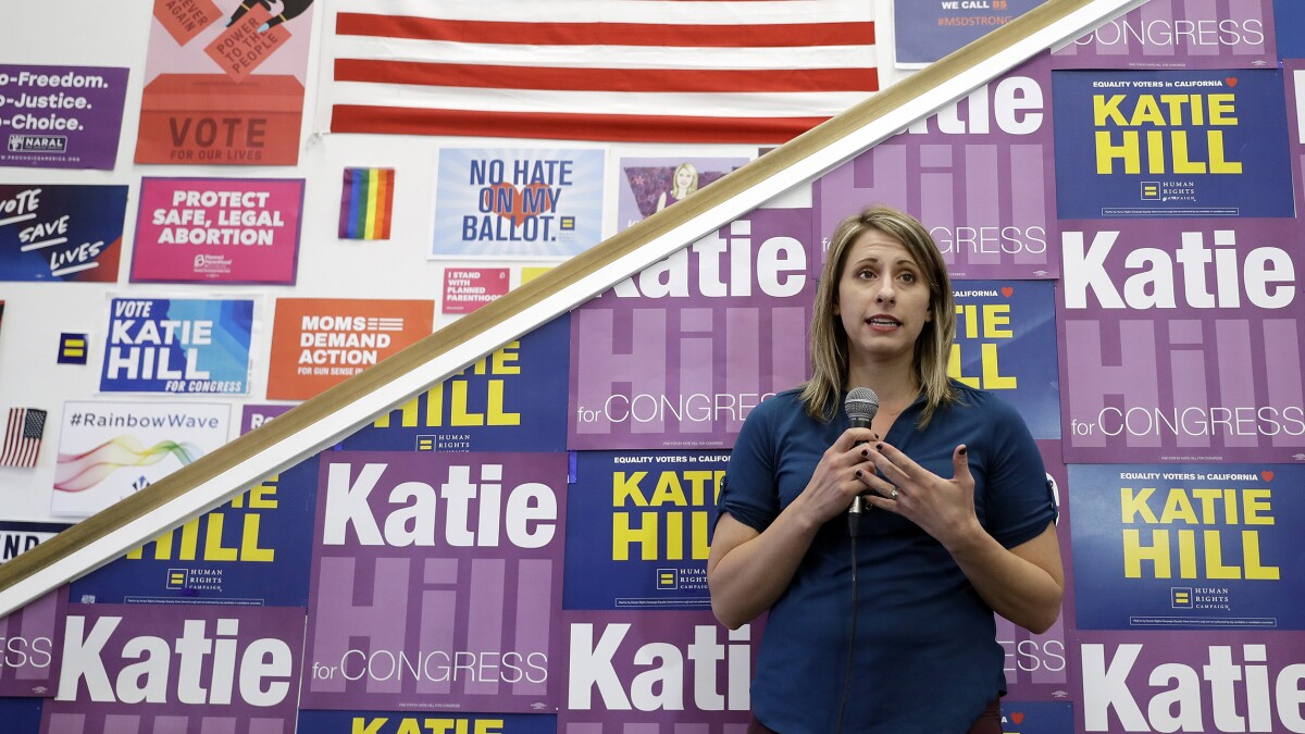 Katie Hill got the same treatment as men who commit sexual misconduct