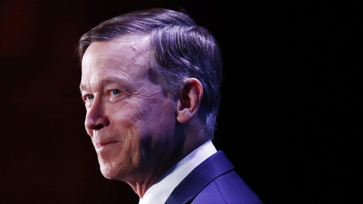 John Hickenlooper drops Democratic presidential bid