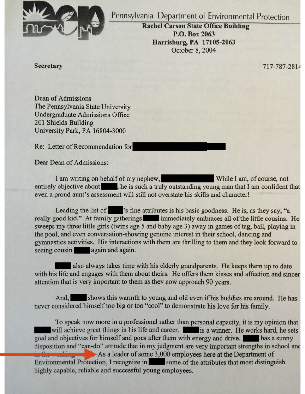 Pa  cabinet official McGinty's letter to Penn State