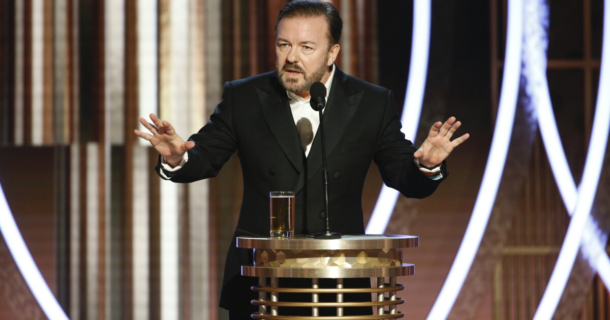 'Your badly paid migrant house staff': Ricky Gervais trashes Hollywood calls for 'equality' ahead of Oscars