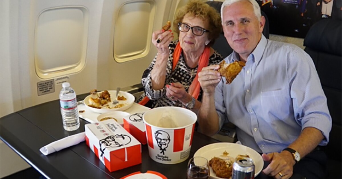 KFC Take 2: Mike Pence and mom get their chicken on