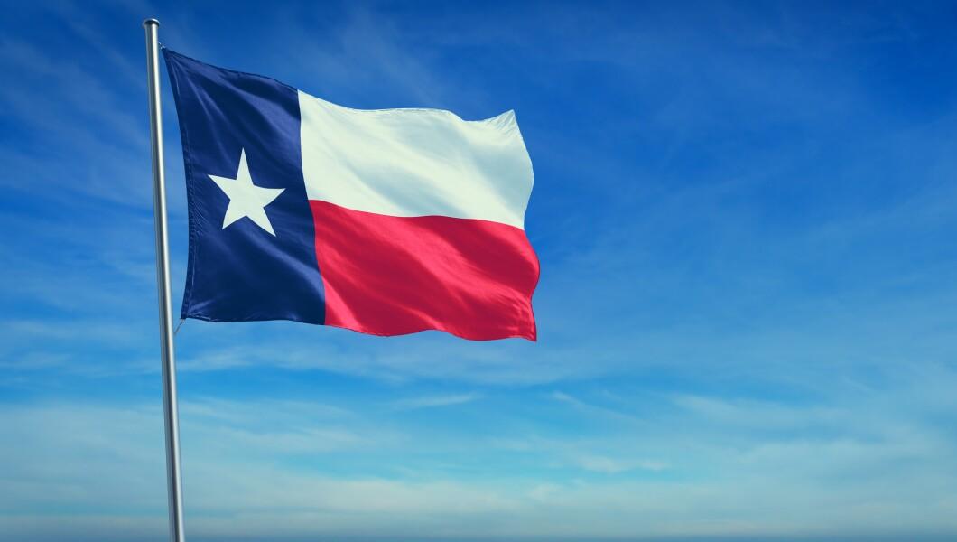 The flag of Texas state USA