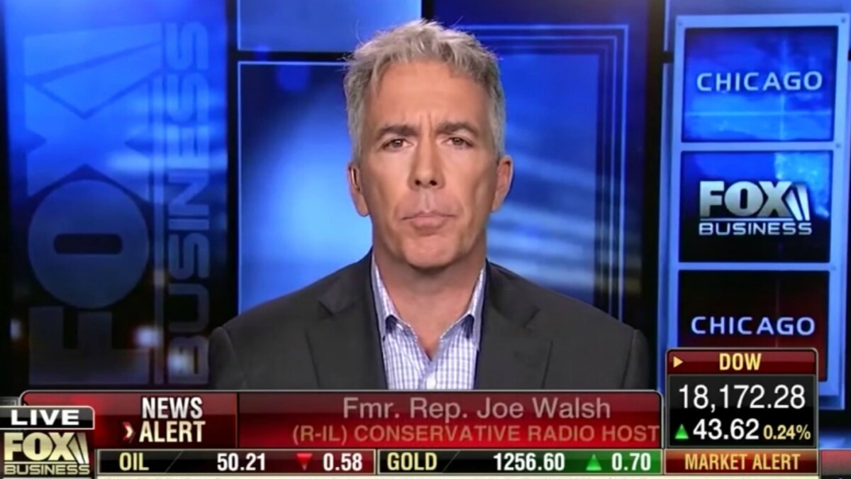 Joe Walsh repeatedly called Obama 'Muslim,' 'enemy,' and 'traitor'; now he's the reasonable alternative to Trump?