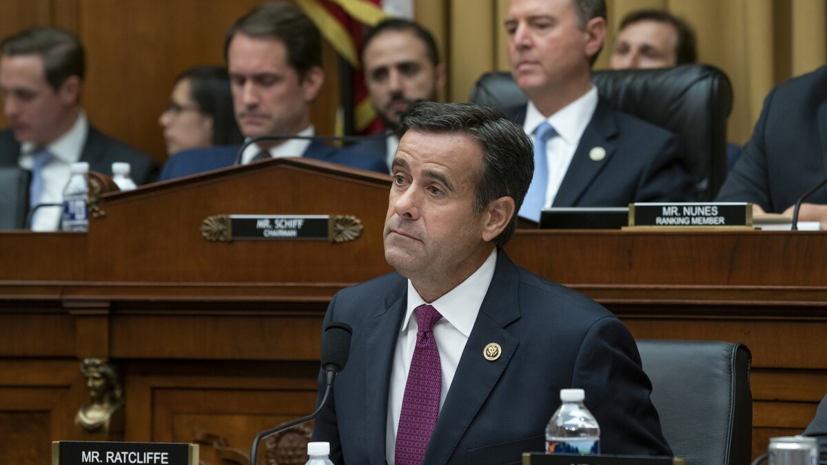 John Ratcliffe disingenuously uses Zelensky's public comments to defend Trump