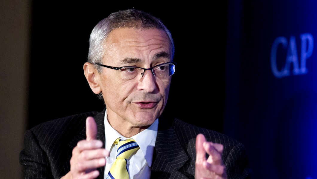 John Podesta speaks in Washington.