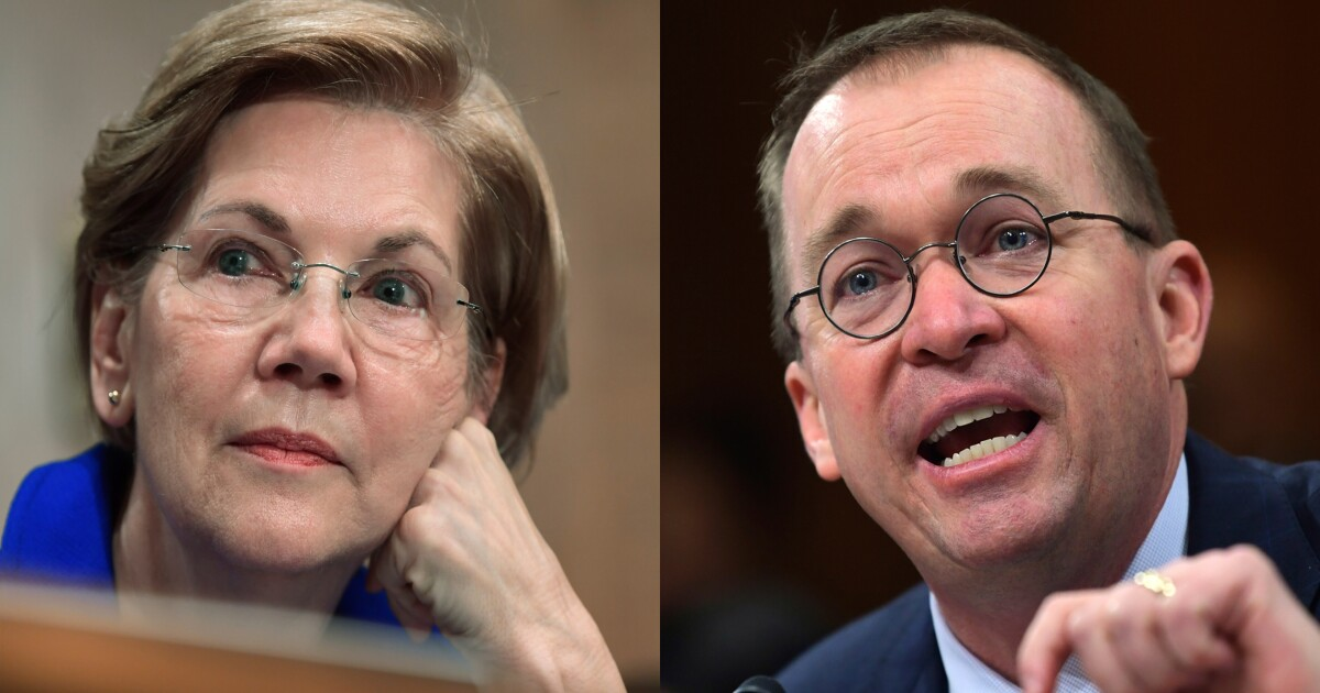 Elizabeth Warren presses Mick Mulvaney on whether he violated the Hatch Act