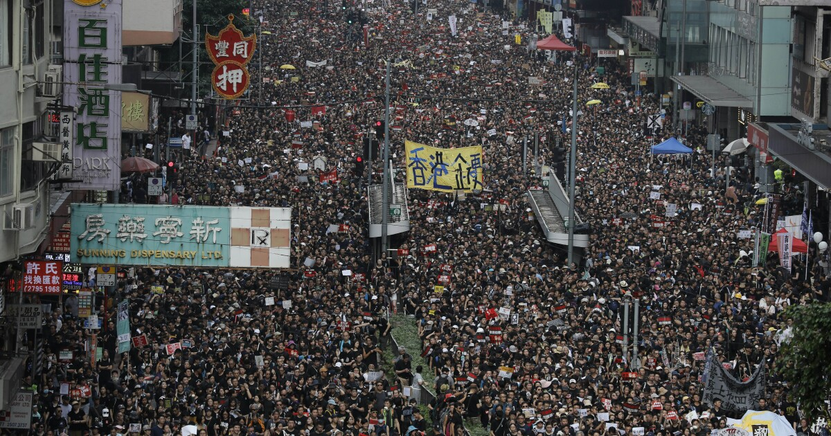 Hong Kong protesters claim turnout of 2 million