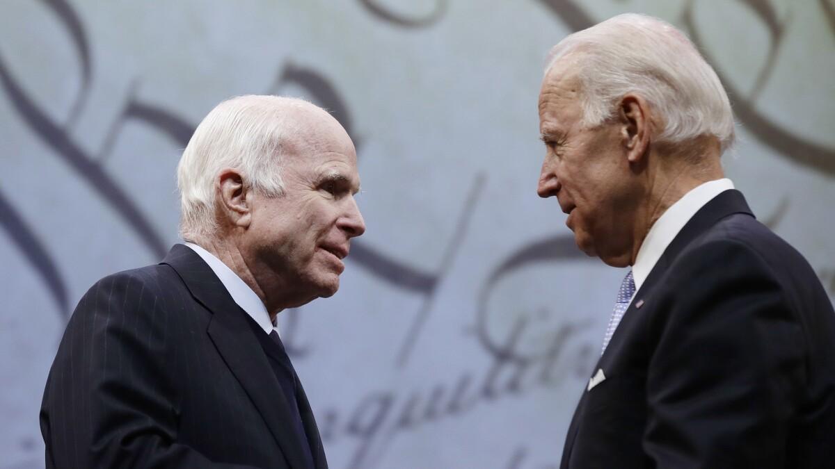 Biden ties himself to John McCain on death anniversary: 'Political giant, and genuine American hero'