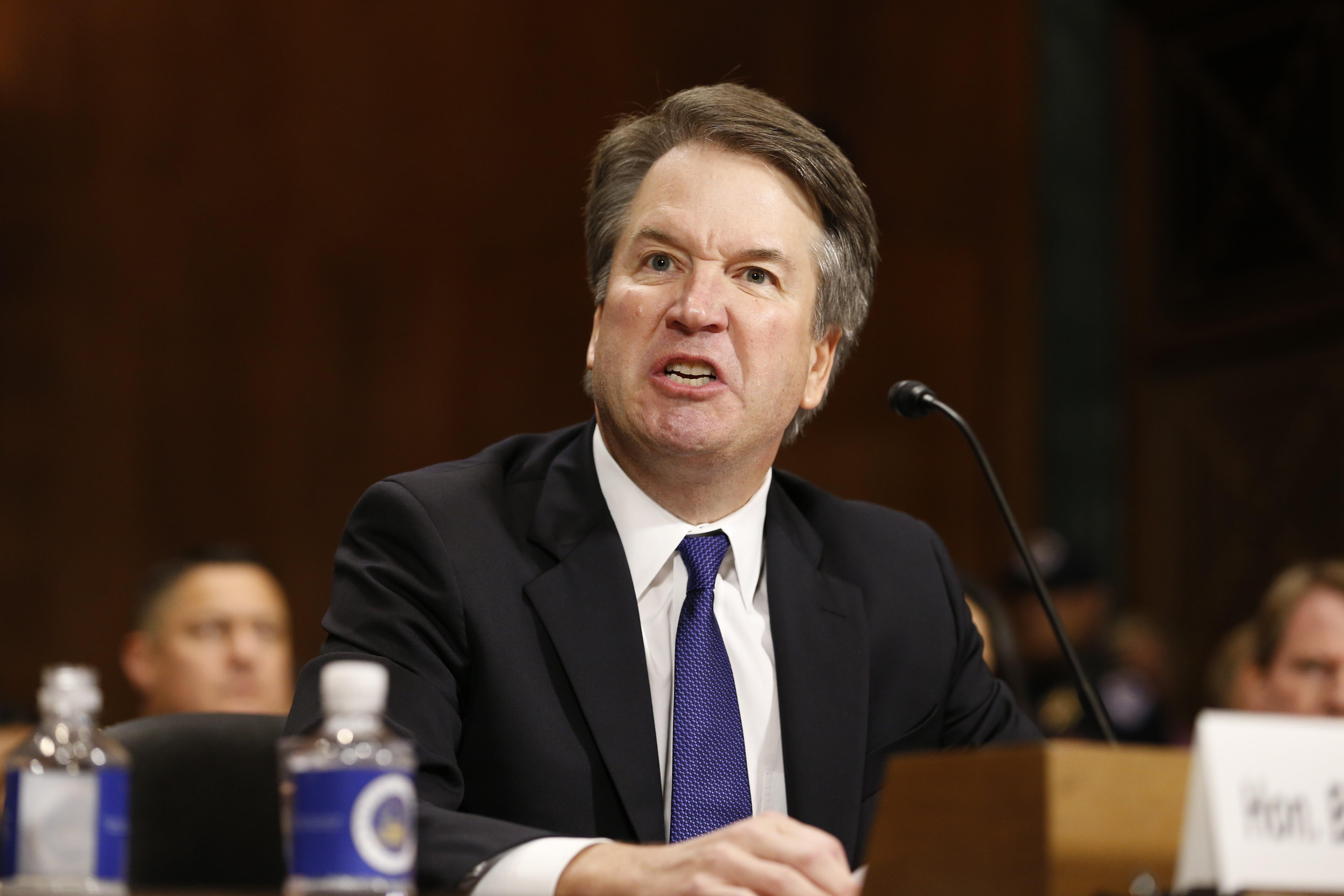 Brett Kavanaugh Angry Anger