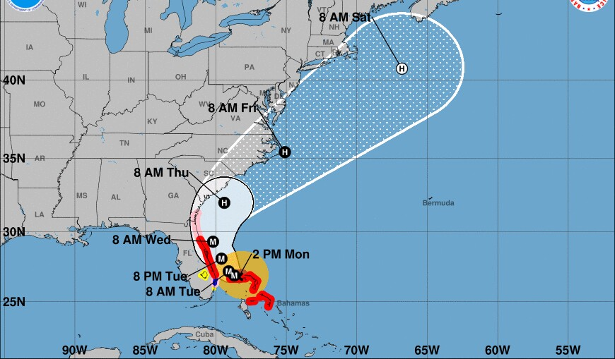 Hurricane Dorian expands in size as it stalls over Bahamas