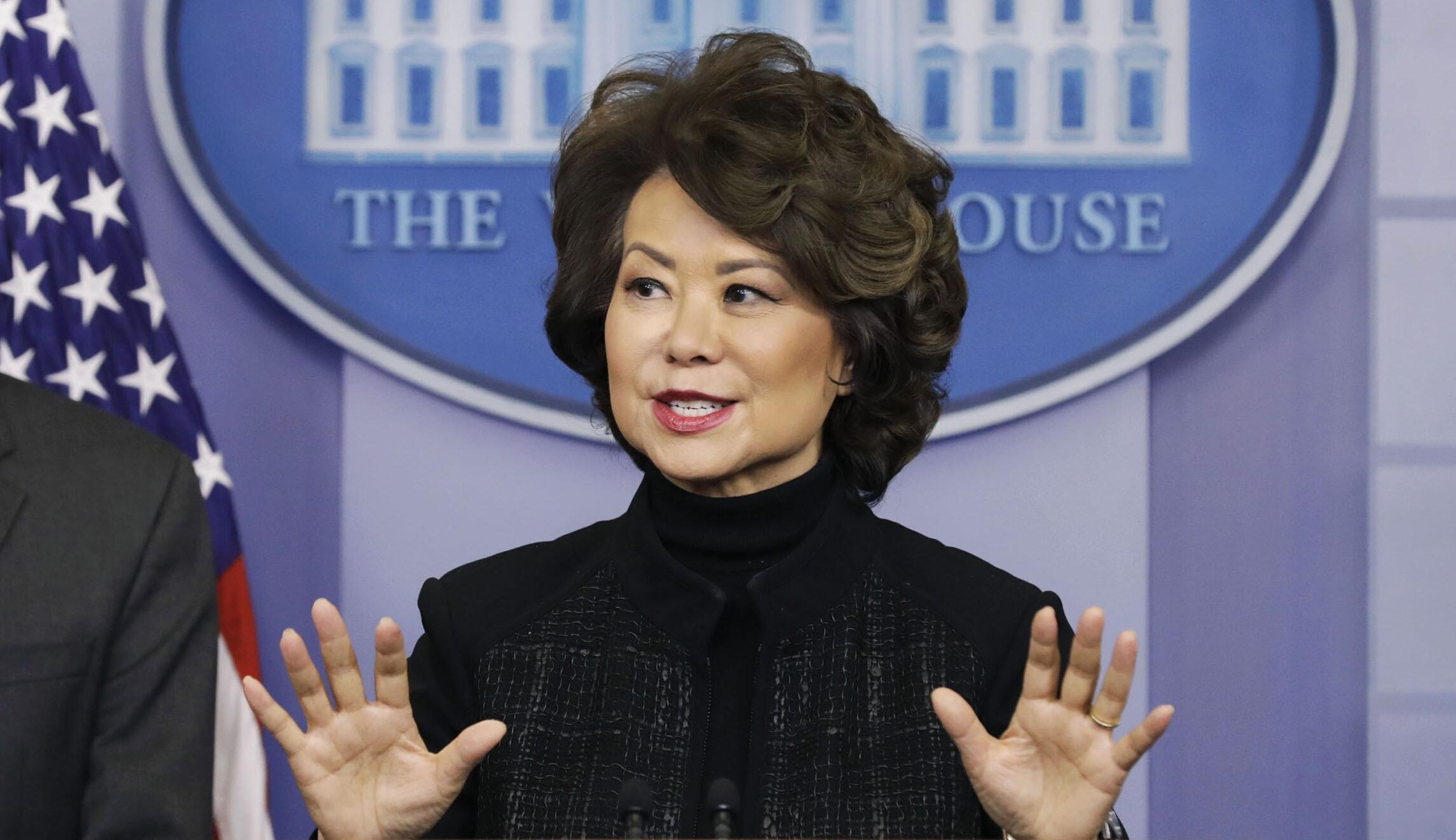 U.S. Transportation Secretary Elaine Chao Speaks During White House Press Briefing