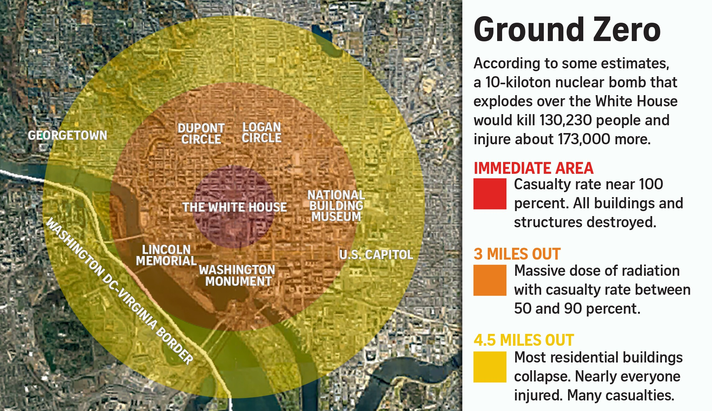 How To Survive A Nuclear Bomb In Dc Really Heres What You Can Do - Us-nuke-map