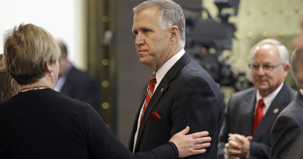 GOP leaders back North Carolina Sen. Thom Tillis by bloodying his primary challenger