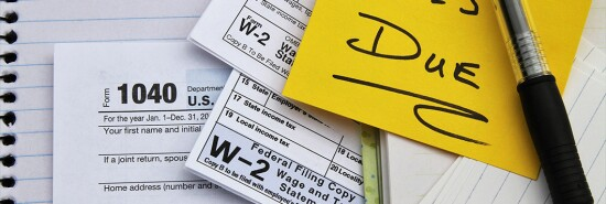 Taxes Due Stock Image IRS W-2