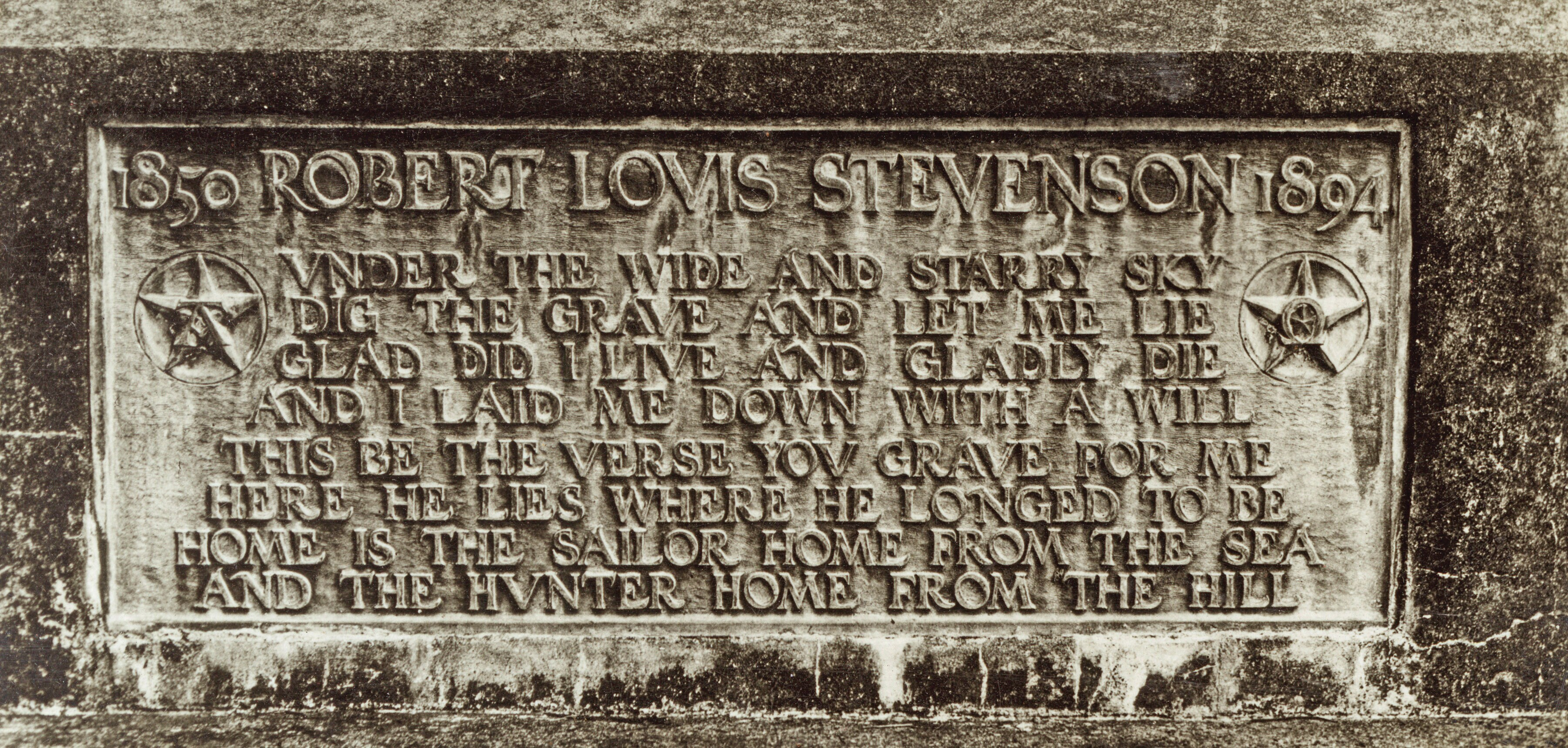 Robert Louis Stevenson's tomb.