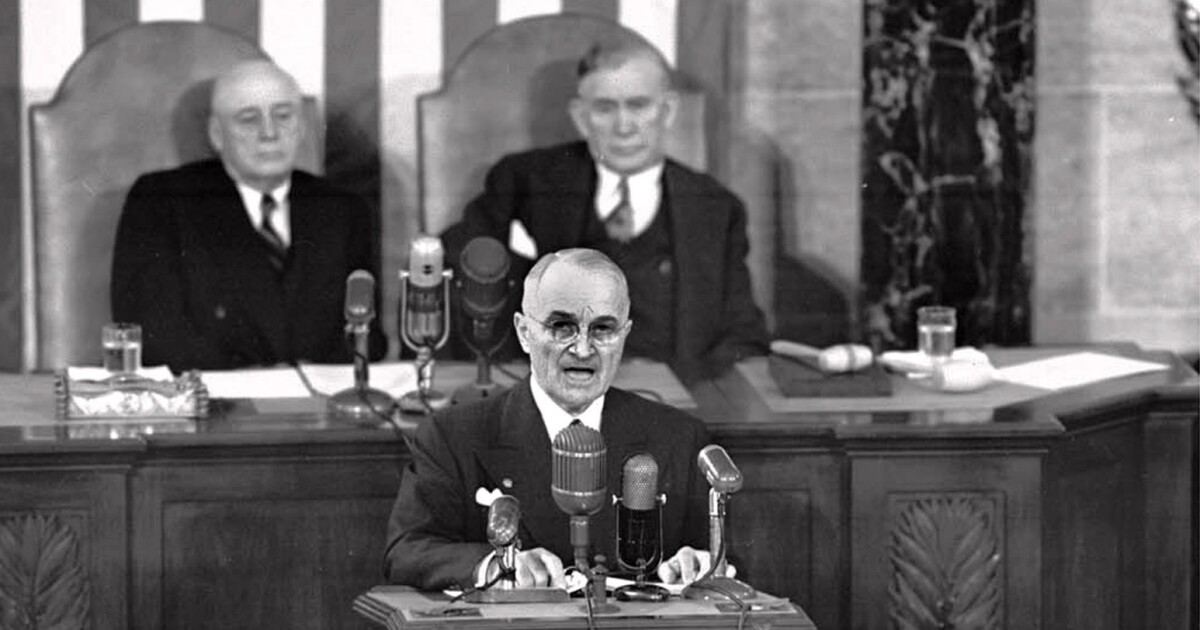 Image result for Truman's final State of the Union address before Congress.