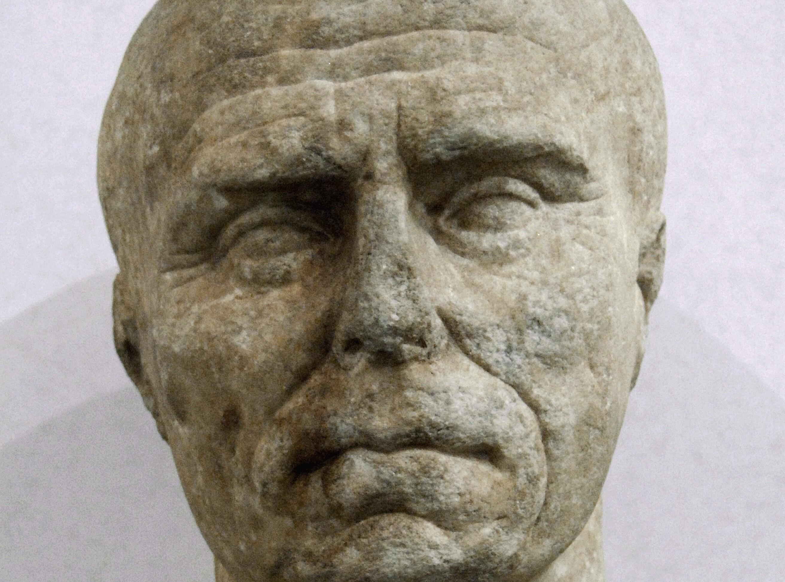 Bust Of An Elderly Roman