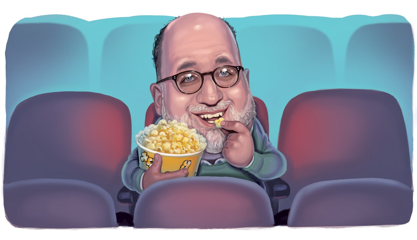 John Podhoretz watching a movie