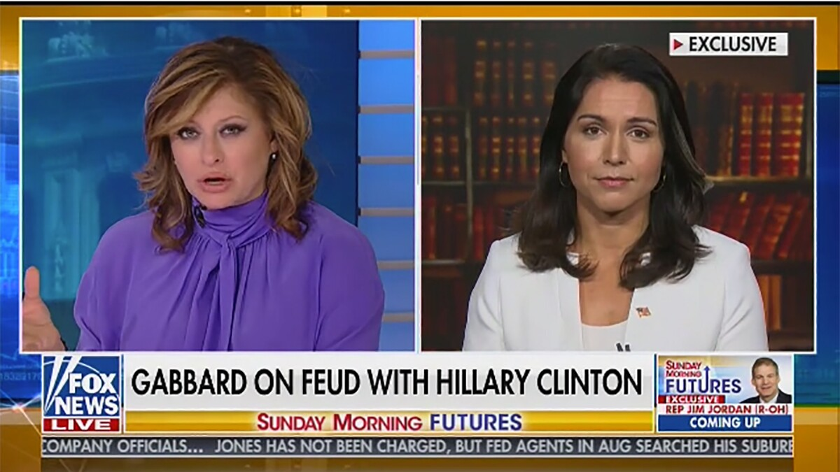 Fox host asks Tulsi Gabbard if Hillary Clinton had FBI-CIA 'cabal' target Trump in Russia probe