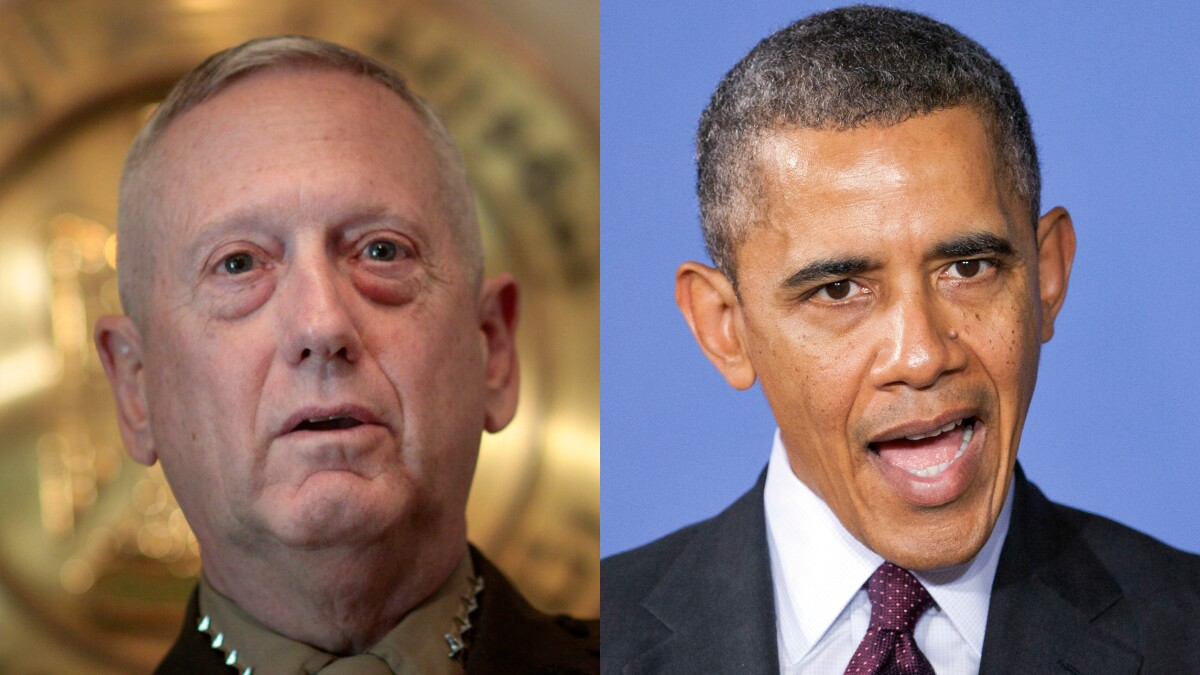 'Emboldened adversaries and shaken allies': Mattis savages Obama's lack of leadership in new book