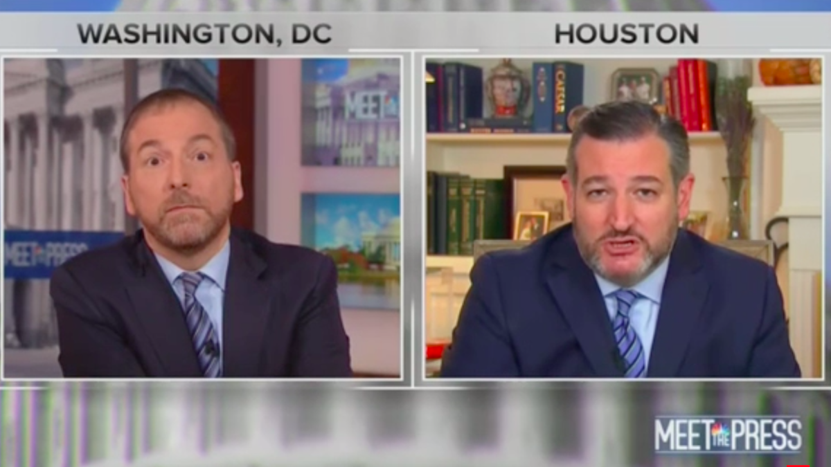 'You do?': Chuck Todd laughs at Ted Cruz during spat about Ukrainian meddling in 2016 elections