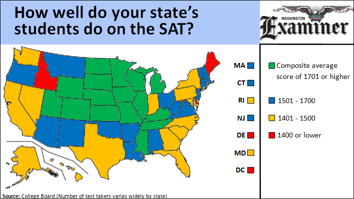 How well do the students in your state perform on the SAT?