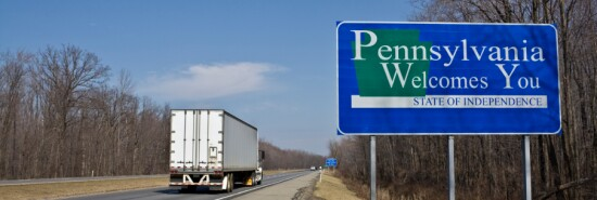 Truck entering Pennsylvania