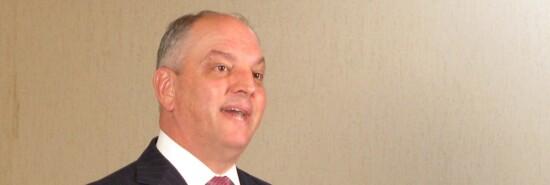 Louisiana Gov. John Bel Edwards speaks.