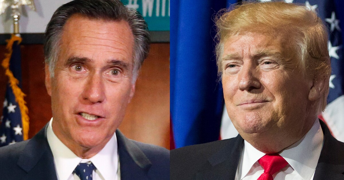 The new McCain: Romney carves out role as GOP thorn in Trump's side