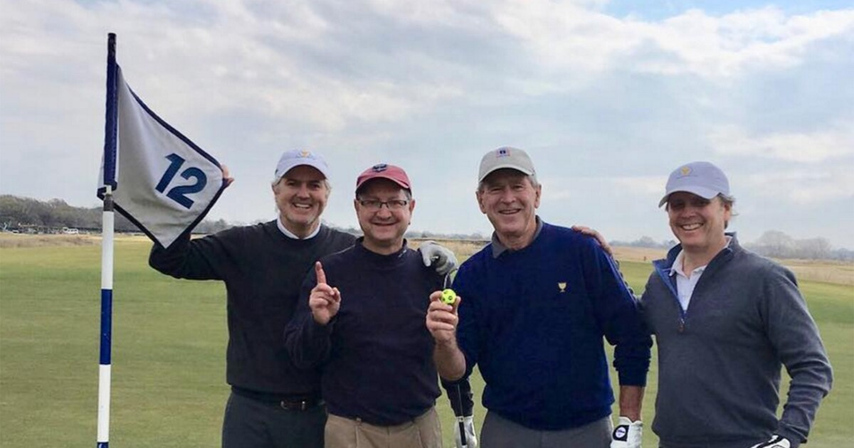 George W. Bush hits first hole-in-one in Dallas