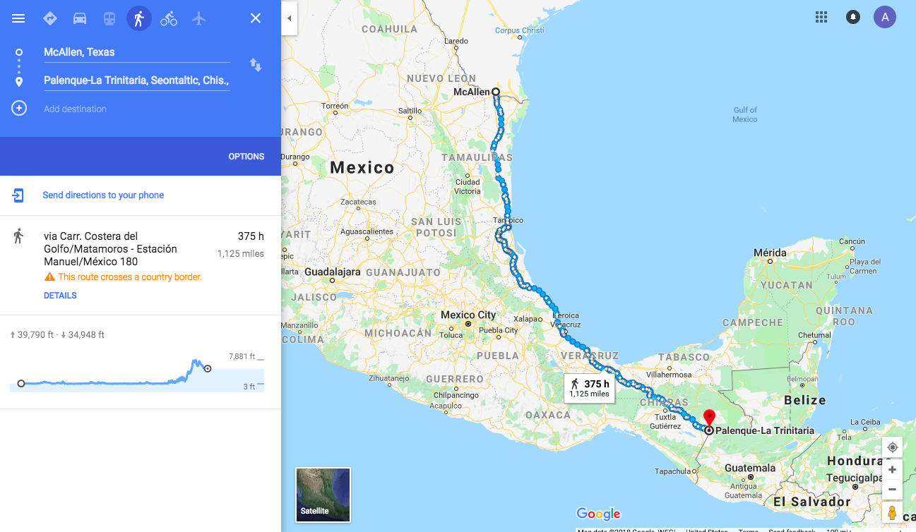 Here\'s how long it takes to walk from Mexico\'s southern ...