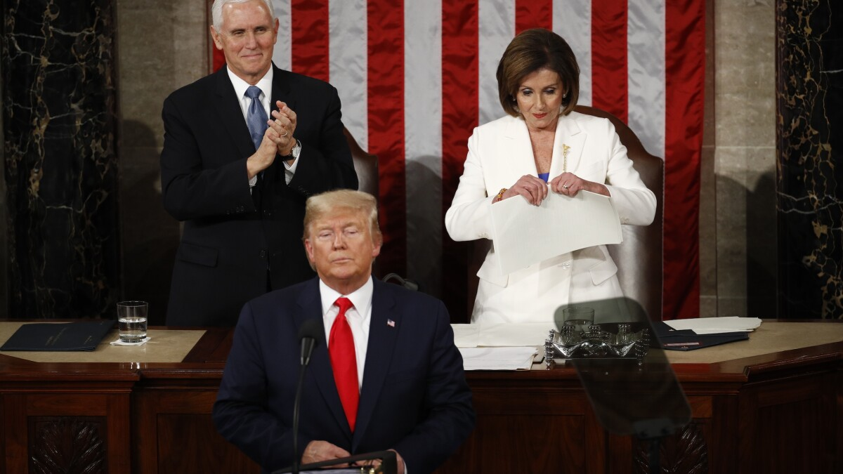 'A very destructive speech': Democrats outraged at Trump's State of Union victory lap