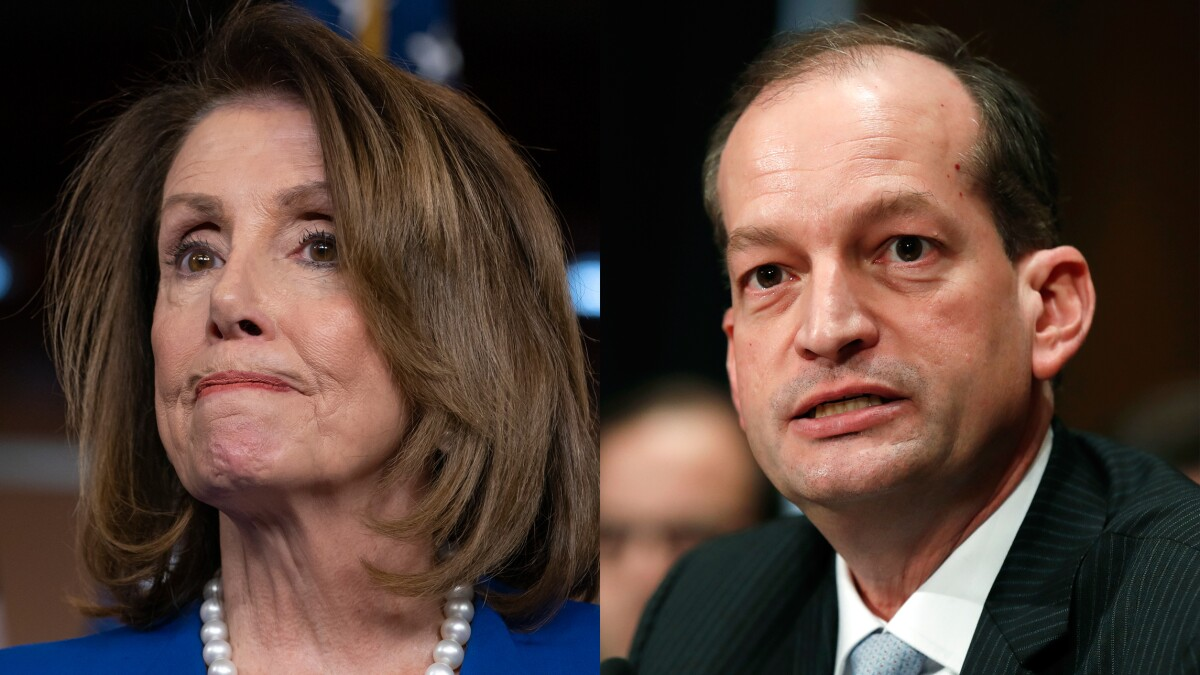 Pelosi demands Trump official's resignation following Jeffrey Epstein charges
