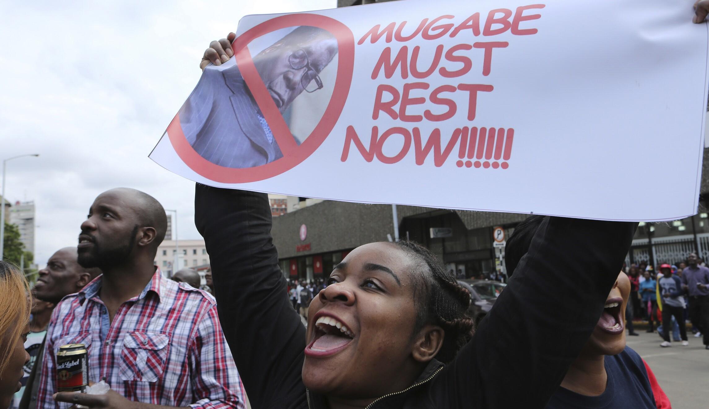 Zimbabwe citizens gather in capital to march against Mugabe