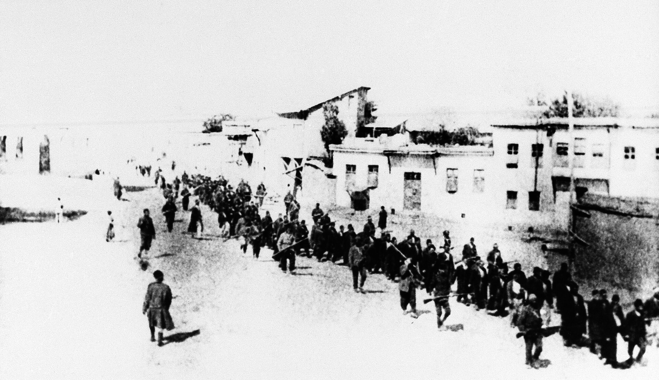 In this 1915 file photo, Armenians marched long distances and were said to have been massacred in Turkey.
