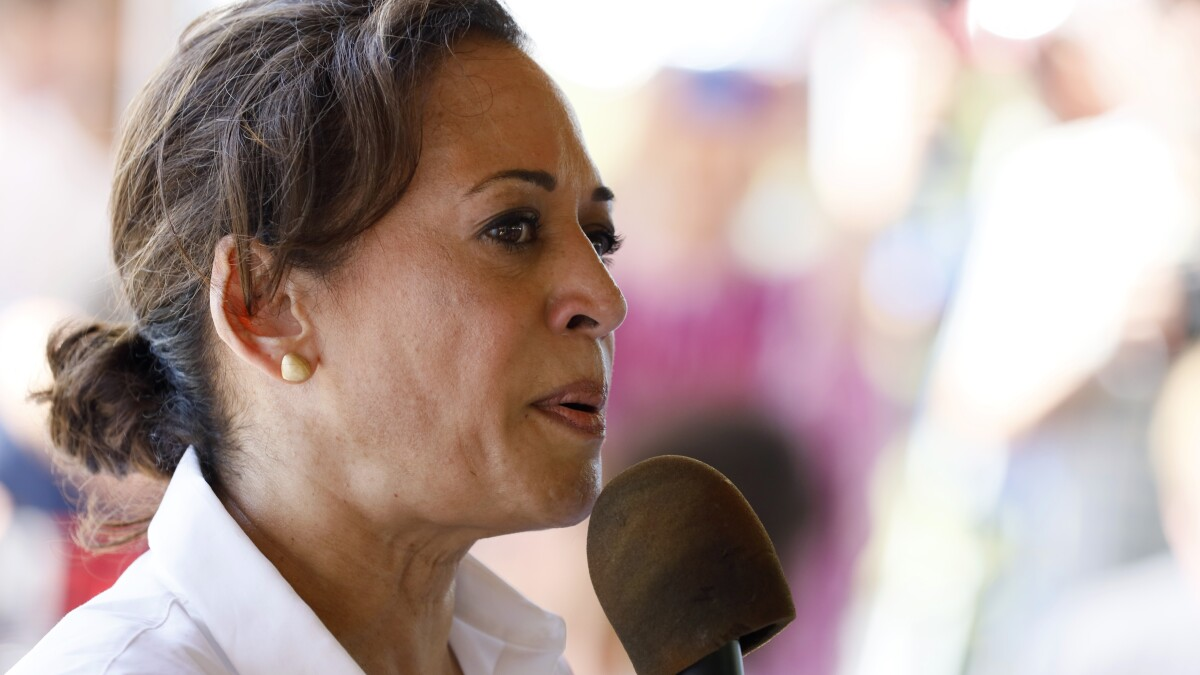 Kamala Harris: 'in awe' of the courage of woman who shared her abortion story