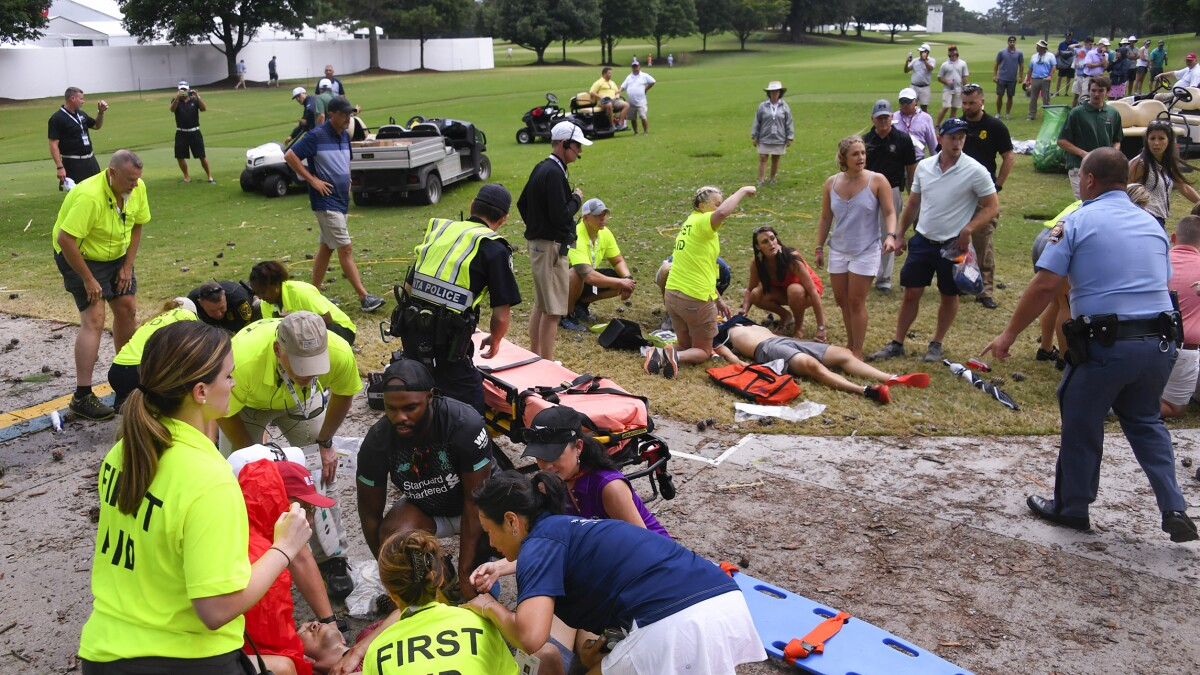 Several people struck by lightning at PGA Tour Championship