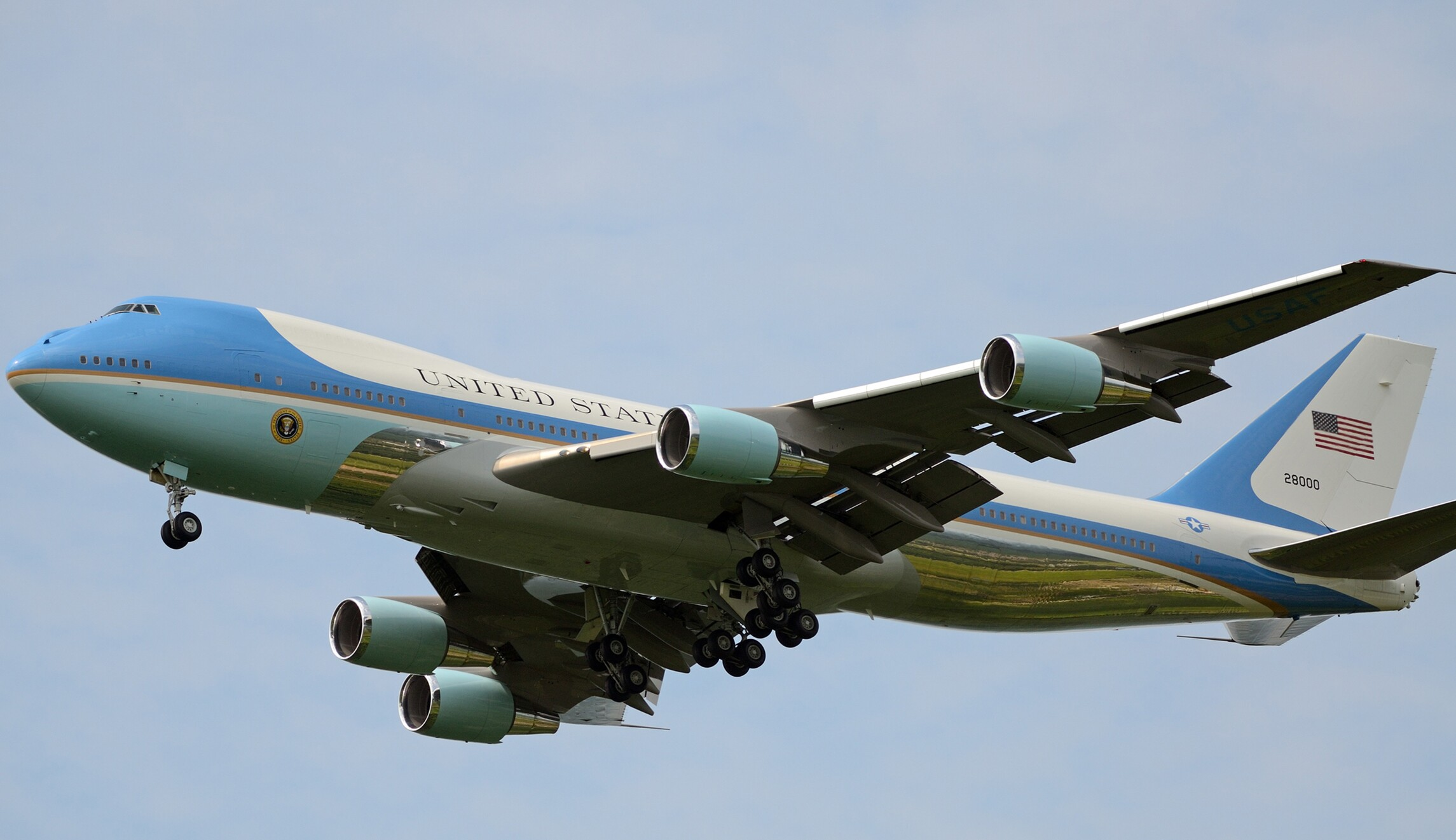 New Air Force One Paint Job