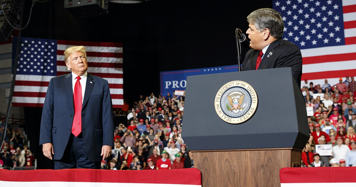 Hannity takes stage with Trump in Missouri ... after saying he wouldn't