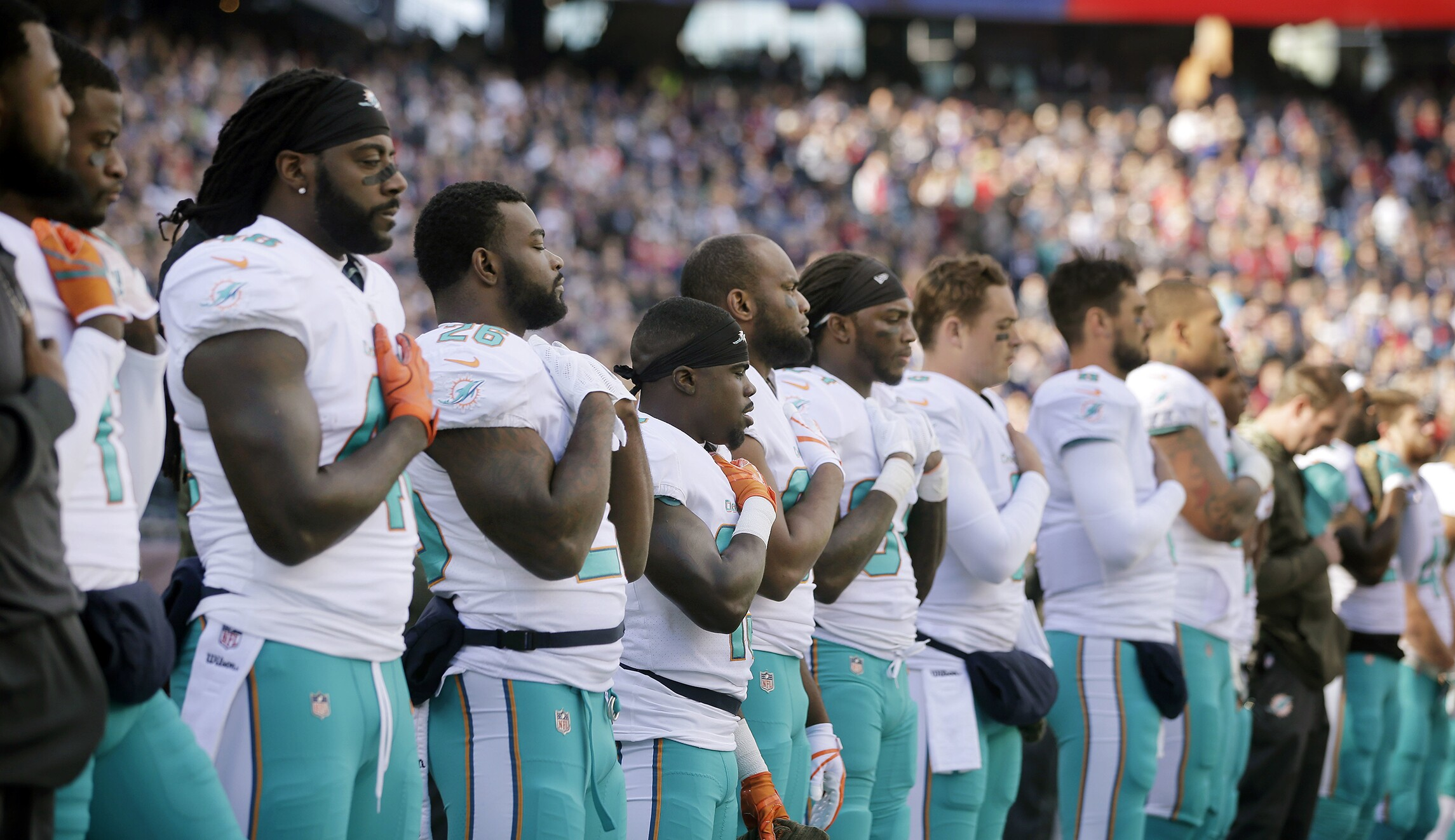 Miami Dolphins owner: 'All our players will be standing' for