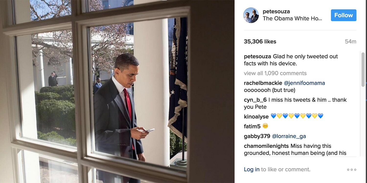 Ex-Obama White House photographer shades Trump on Instagram