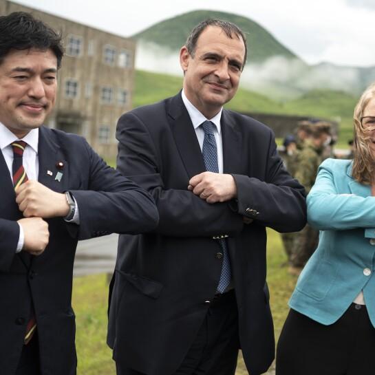 Japan US France Drills
