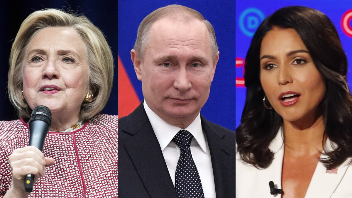 Hillary Clinton says Tulsi Gabbard is a 'Russian asset' groomed to ensure Trump reelection