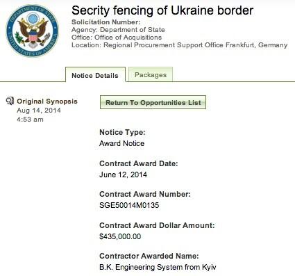 Feds Buy Border Fence     for Ukraine