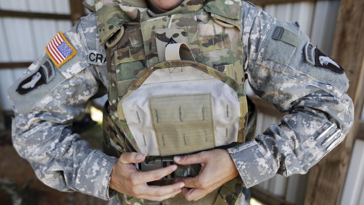 'Common sense': Bipartisan push for better-fitting female body armor for troops