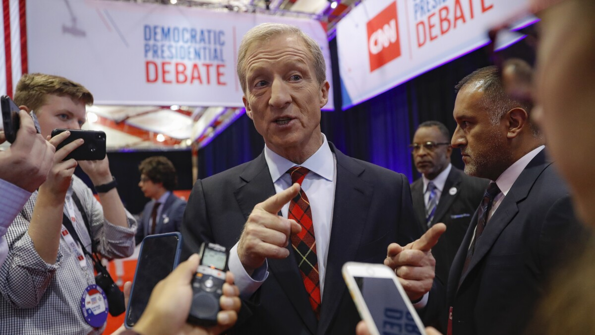 Tom Steyer spent $109,000 per second he spoke during 2020 presidential debate