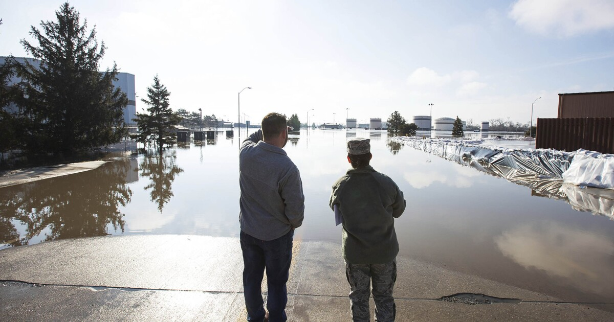The problem with robbing the military budget for the wall? Just look at the flooded airbase in Nebraska