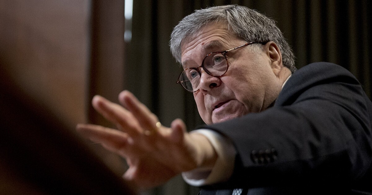 William Barr says FISA report release is 'imminent'