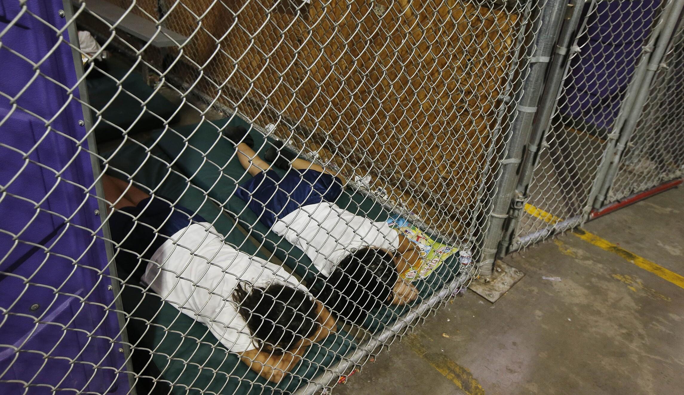 Immigration detention center children