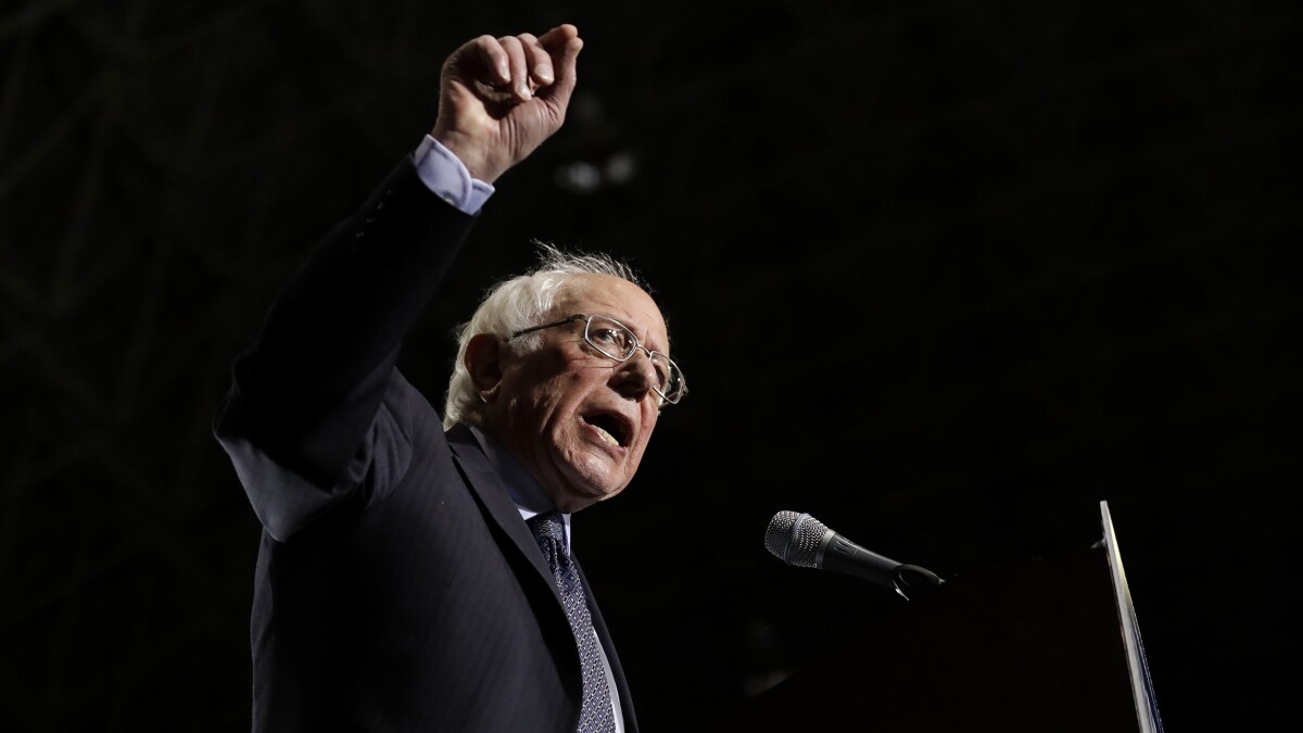 Bernie Sanders wants to nationalize at least 30% of the American economy